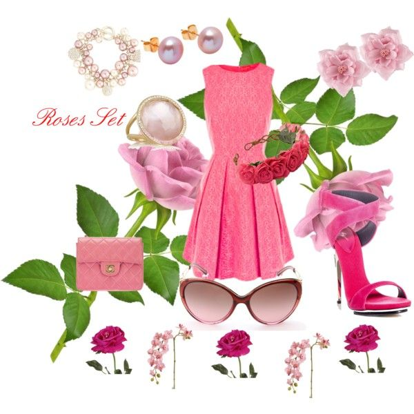 """Roses Set"" by cristina-barberis on Polyvore"