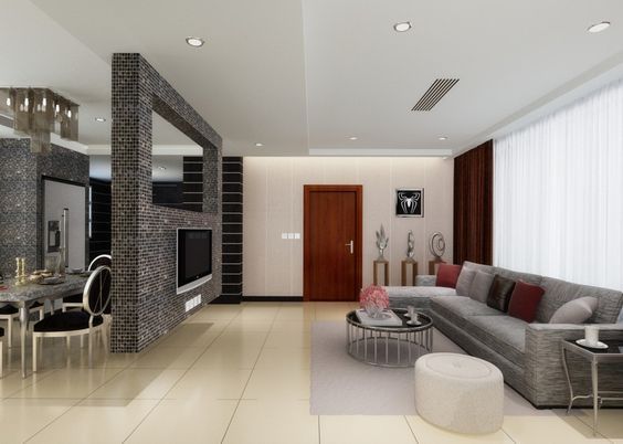 Beautiful Partition Design for Living Room and Dining Hall
