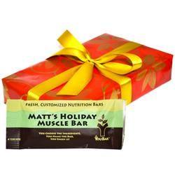 Gift Idea: Customized Box of Nutrition Bars   @Krista Kuhn for jason