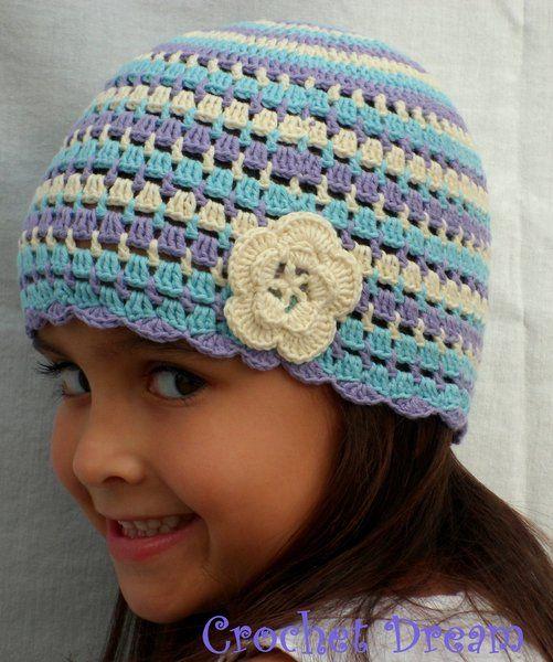 Gorro rayitas crochet dream zapatillas y gorros crochet - Gorritos bebe ganchillo ...