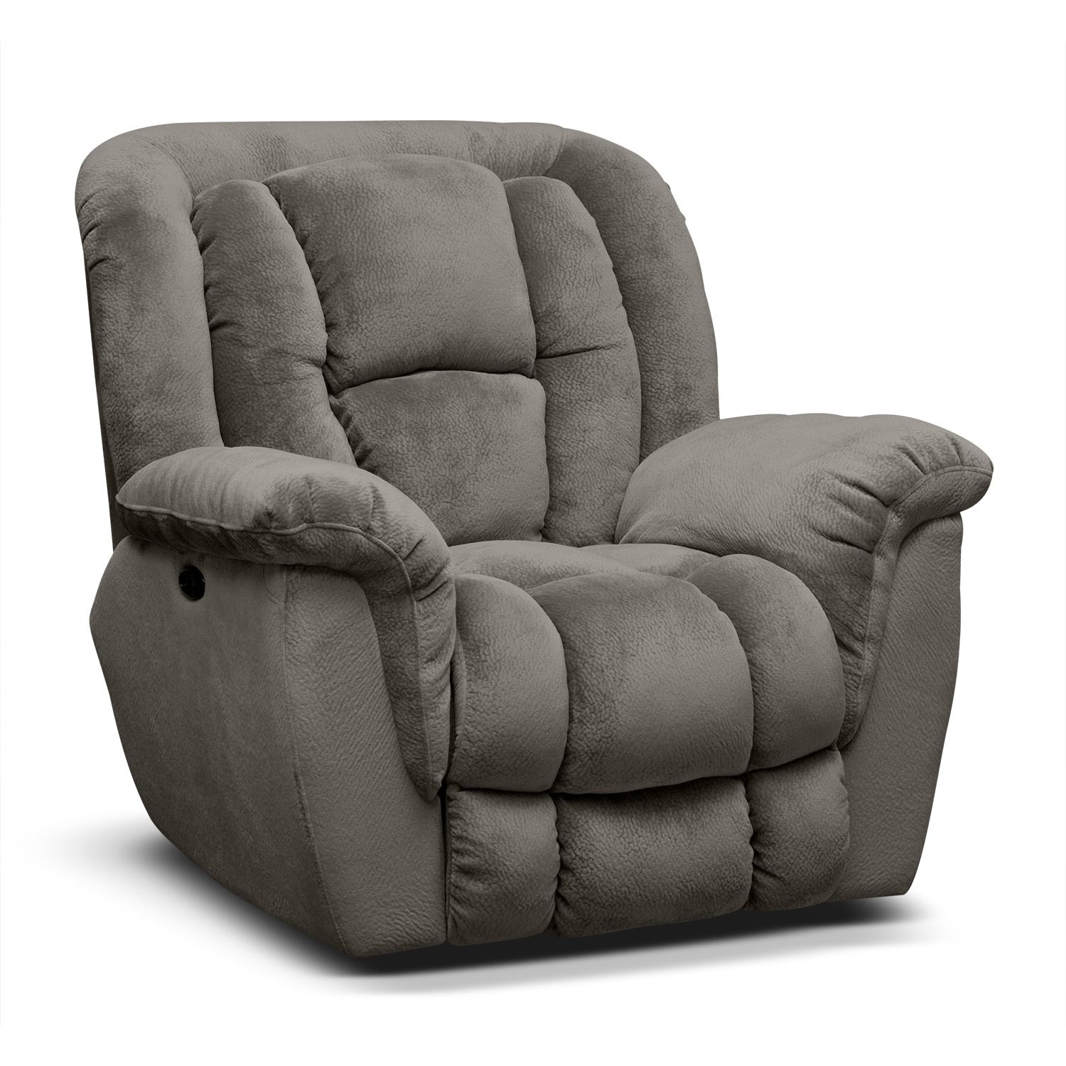 Living Room Furniture Mammoth Power Recliner Gray Living Room Decor Furniture Value City Furniture Furniture