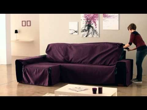 How To Put An Universal Chaise Sofa Covers Youtube Chaise Sofa Sofa Covers Chaise Lounge Slipcover