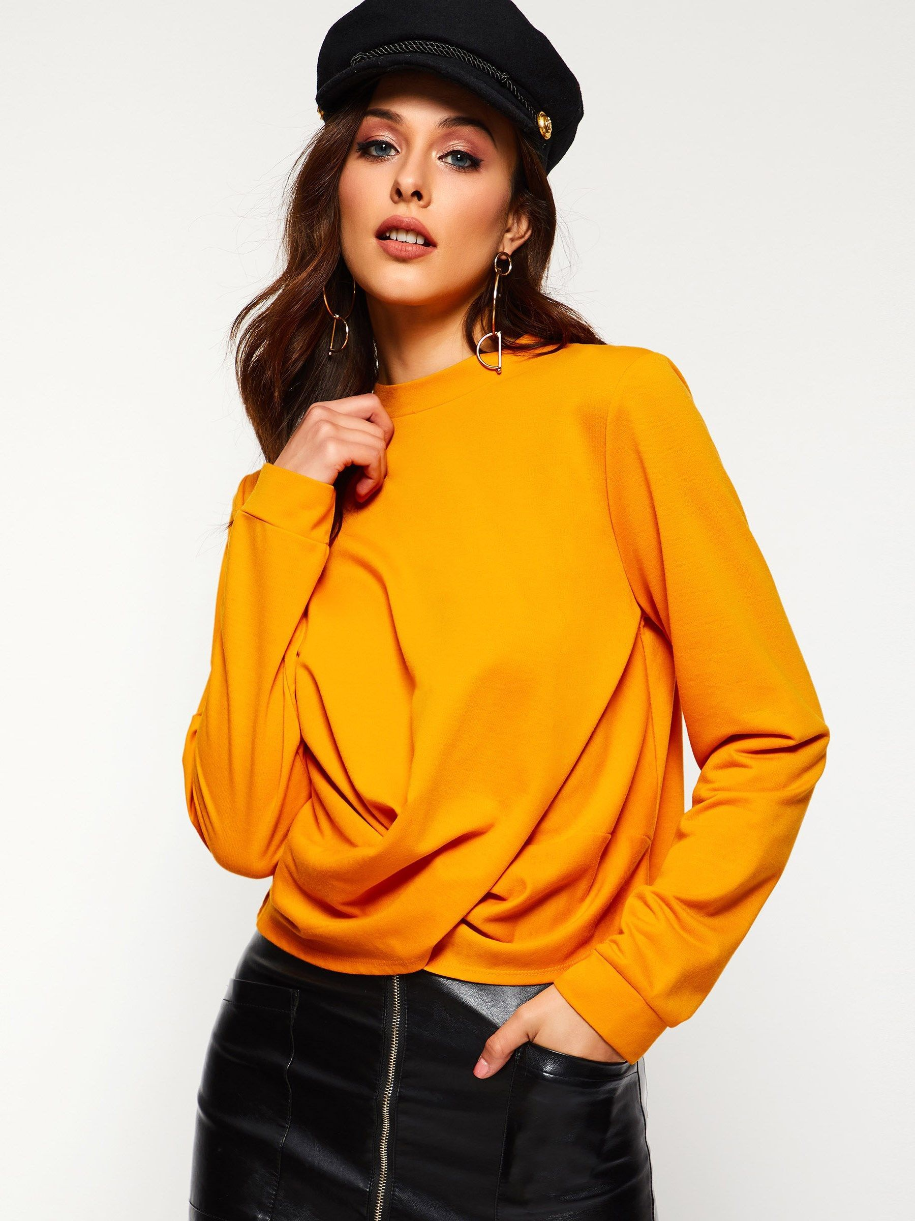 82 Of The Most Creative T Shirt Designs Ever: Long Sleeve Plain Round Neck Women's T-Shirt (With Images