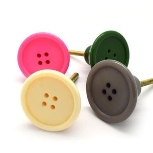 Large Colourful Button Cabinet Knob - door knobs & handles   Doing ...