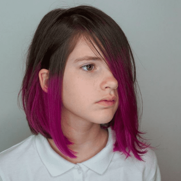 Dip Dye Dip Dye Hair Short Kids Hair Color Dip Dye Hair