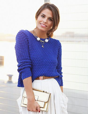 Un jersey de punto corto ideal para tus looks con faldas. // Knitted crop sweater great for your looks with skirts