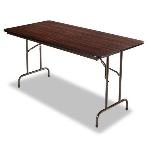 Alera Rectangular Wood Folding Table Walnut Wood Folding Table Folding Table Rectangular Table