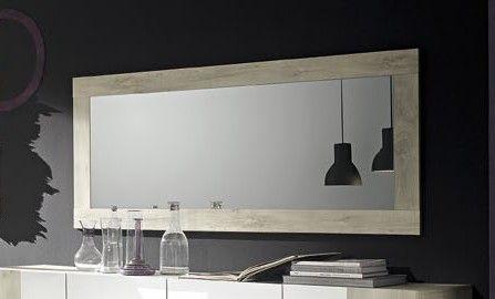Specchi Moderni Con Cornice.Specchio Moderno L 170 Cm Con Cornice In Essenza Pino Bianco Art