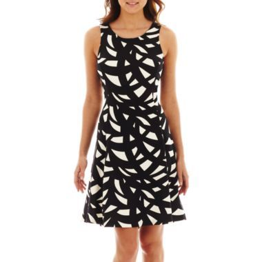 de34c568f Worthington® Sleeveless Print Fit-and-Flare Dress found at  JCPenney ...
