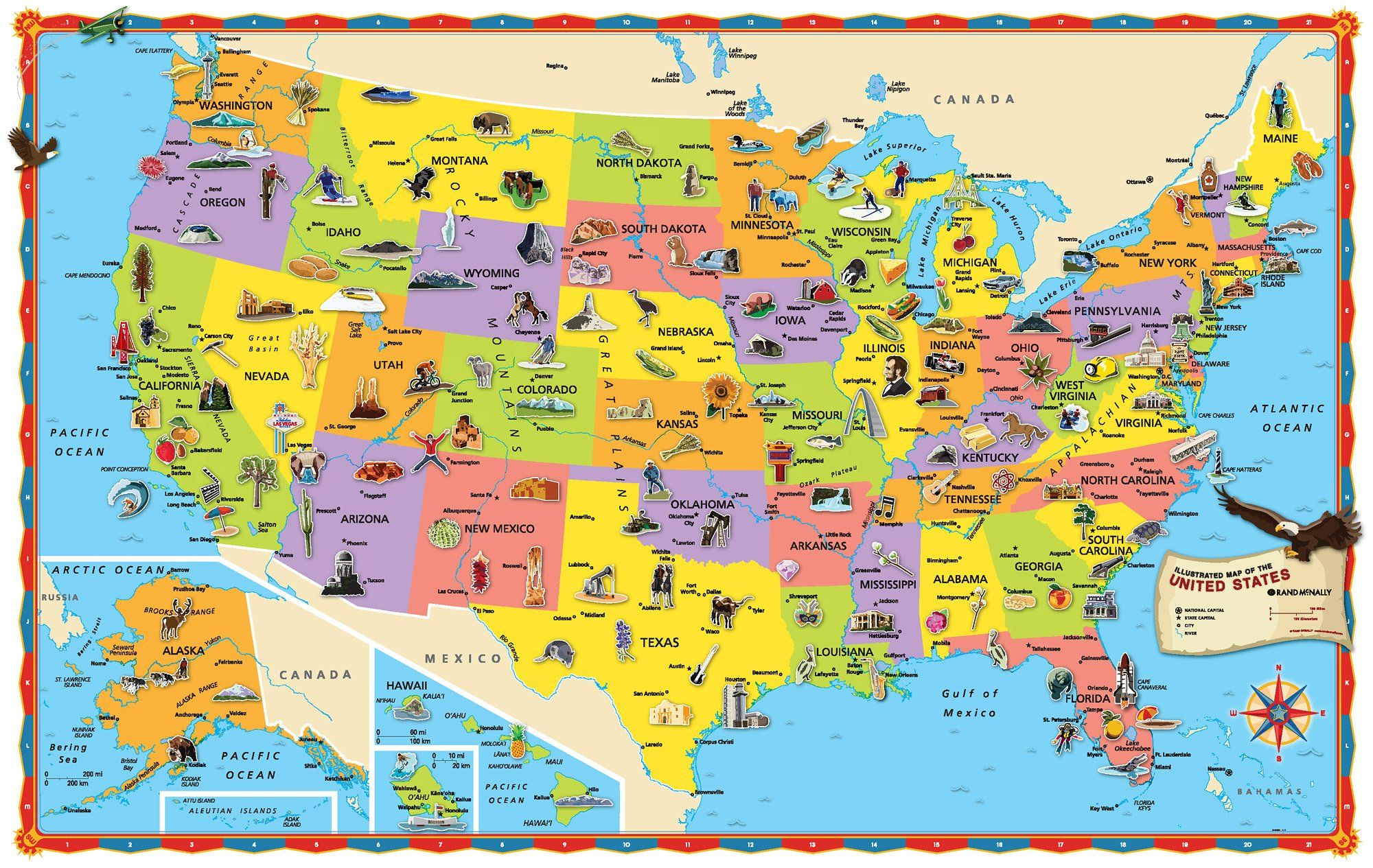 Image Result For Map Of United States Kid Friendly
