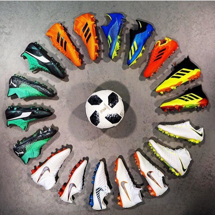Which Brands World Cup Pack Do You Like A Great Picture By Footballbliss Adidas Nike Puma Fifa World Adidas Soccer Boots Soccer Boots Adidas Boots