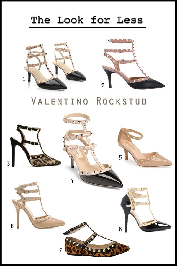 b1af30877bd Valentino Rockstud T-strap heels and flats look for less, Valentino ...