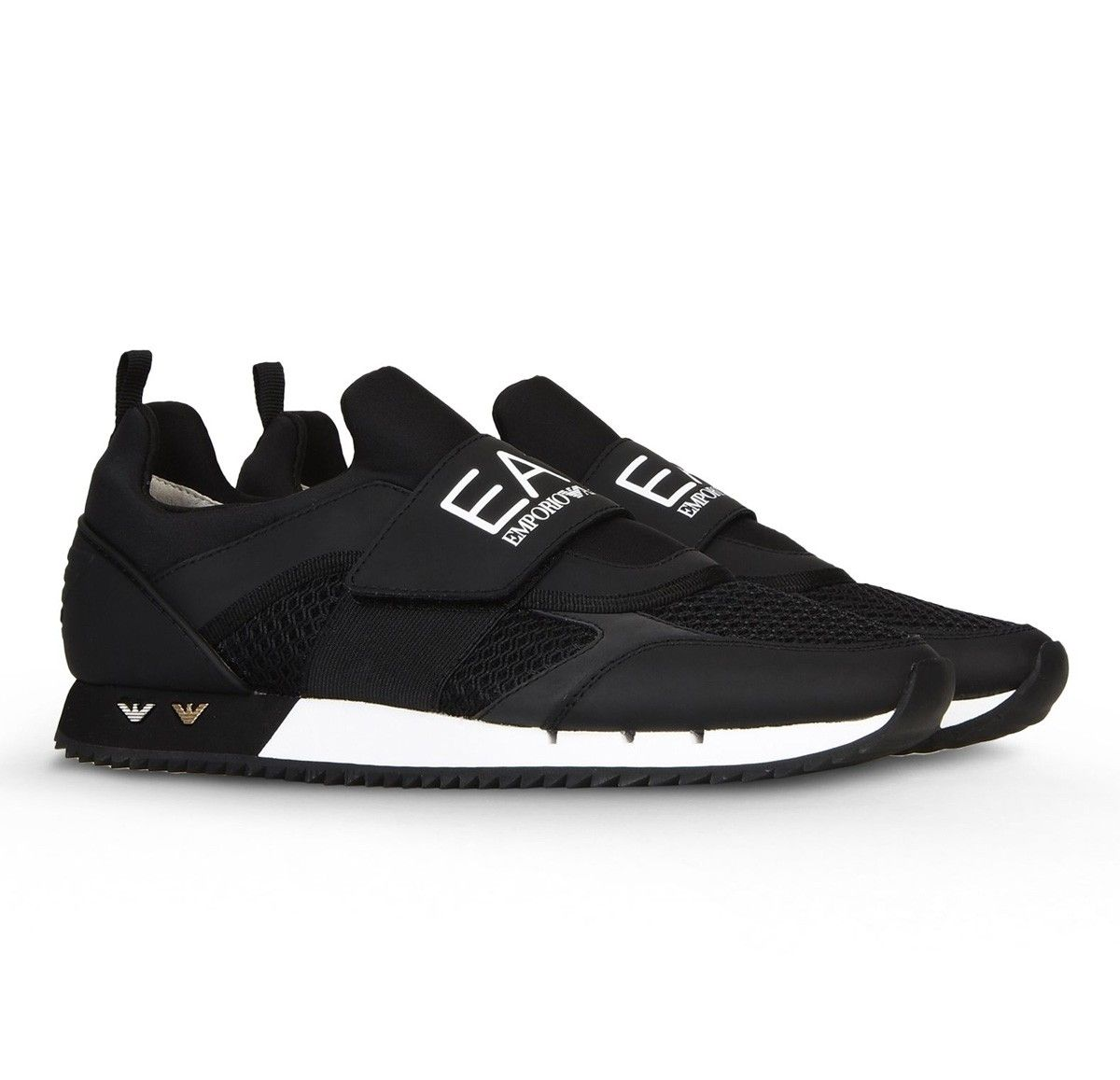 armani jeans velcro runner trainers