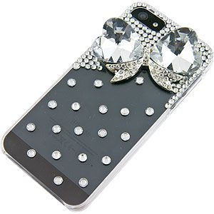 Rhinestones 3D Back Cover for Apple iPhone 5, Crystal Bow