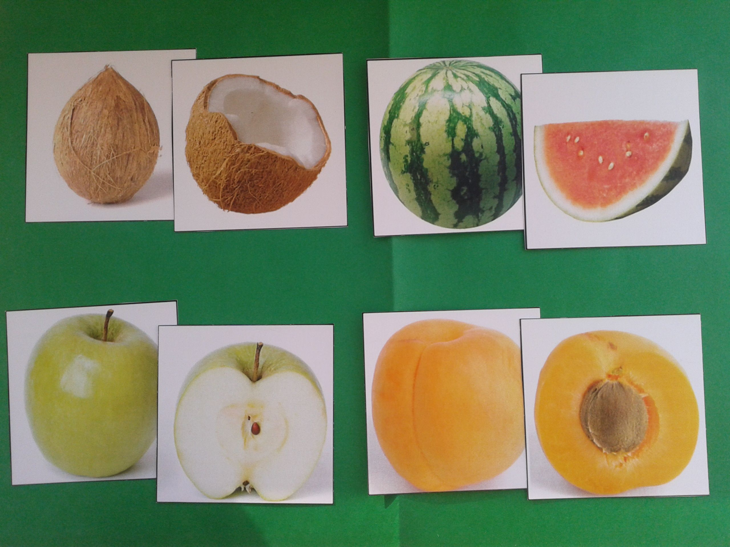 Fruit Inside And Out Matching Activity