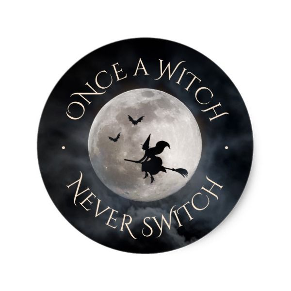 Halloween witch funny slogan classic round sticker halloween holiday creepyhollow stickers