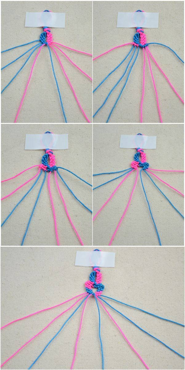 Funny Bracelet Making Instructions With String Diy