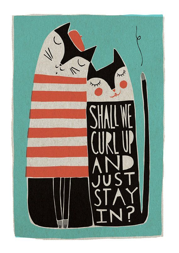 Shall We Curl Up. Artwork by FreyaArt #illustration