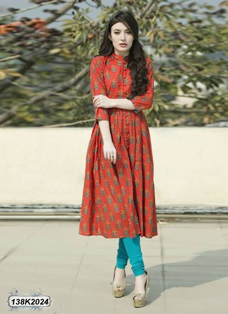 878f3e64227  Readymade  Red  Cotton  Long  Kurtis  nikvik  usa  designer  australia   canada  freeshipping  fashion  dress  tunic  sale