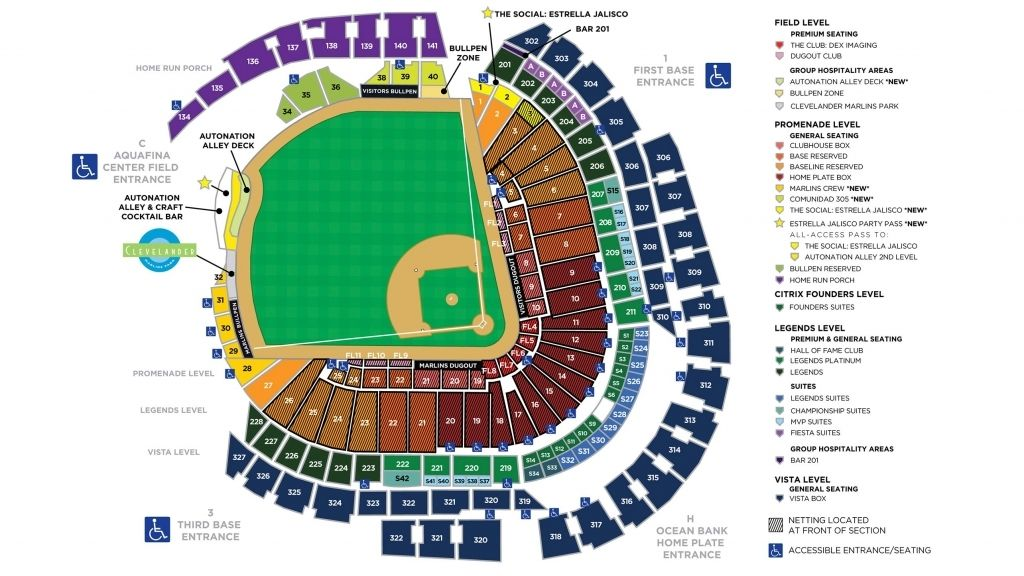 Marlins Park Seating Chart Regue