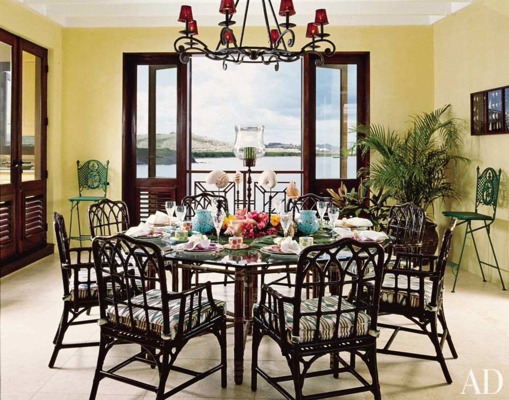 Beach Dining Room By Dorothy Draper Company And Lanio Associates Architects IncS Virgin Islands
