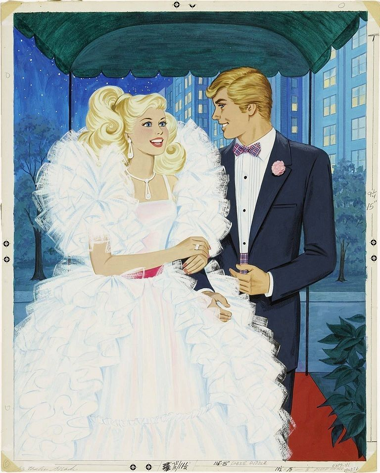 Barbie & Ken Print - 80's Crystal Barbie