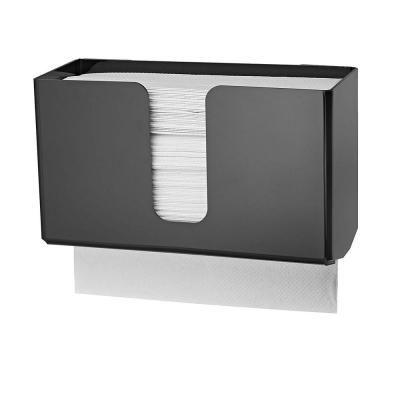 Alpine Industries Acrylic Black Wall Mounted Paper Towel Dispenser