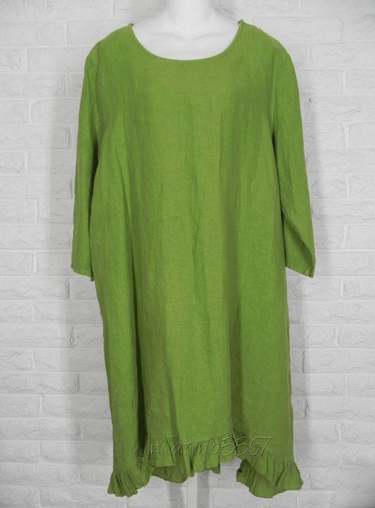 3146cb1d01 BRYN WALKER Linen Hi Low Hem Zaida Tunic Julep Green New Small Medium Large   BrynWalker  Tunic  Casual