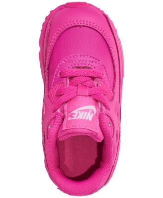 200b87a1b585 Nike Toddler Girls  Air Max 90 Leather Running Sneakers from Finish Line -  Red 10