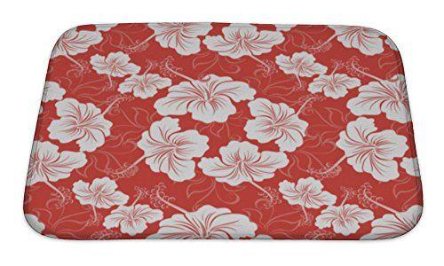 Gear New Hibiscus Flower Hawaiian Bath Mat Rug Microfiber Memory Foam With No Skid Back 24 Bath Mat Rug Mat Rugs Target Bath Rug