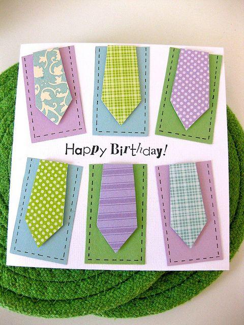 Men Neckties Birthday Card Mens Cards Pinterest Card Ideas