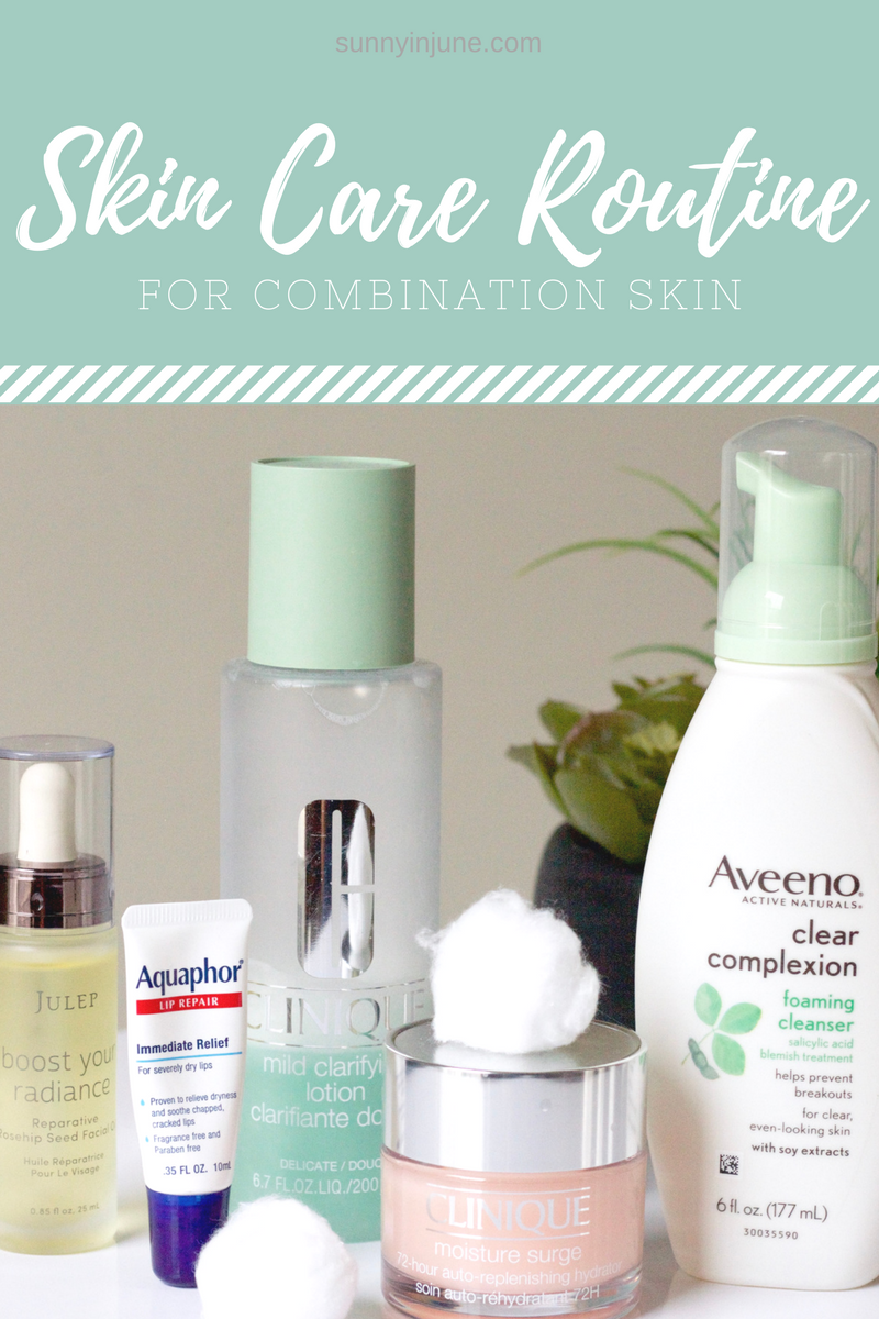 Using Drug Store Products Cosmetic Store Products For This Easy 5 Step Skin Care Regimen For Combination O Combination Skin Cosmetic Store Skin Care Routine