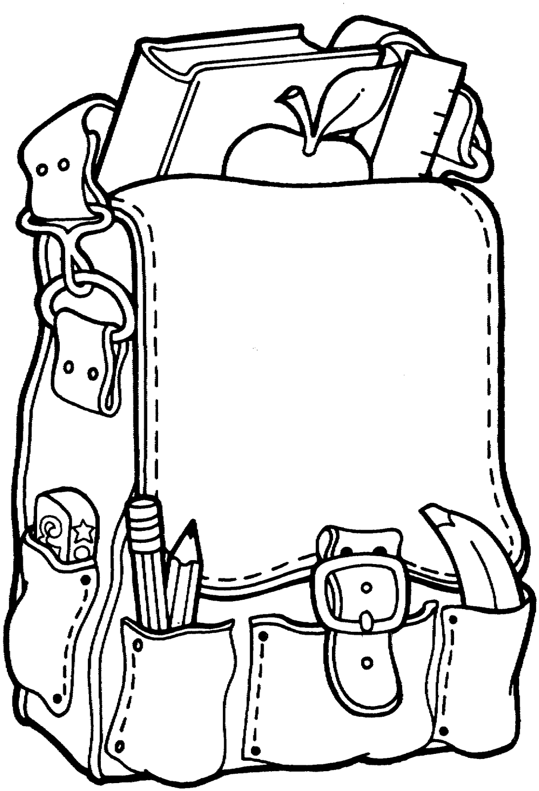 My School Bag Kindergarten Coloring Pages Kindergarten Colors School Coloring Pages
