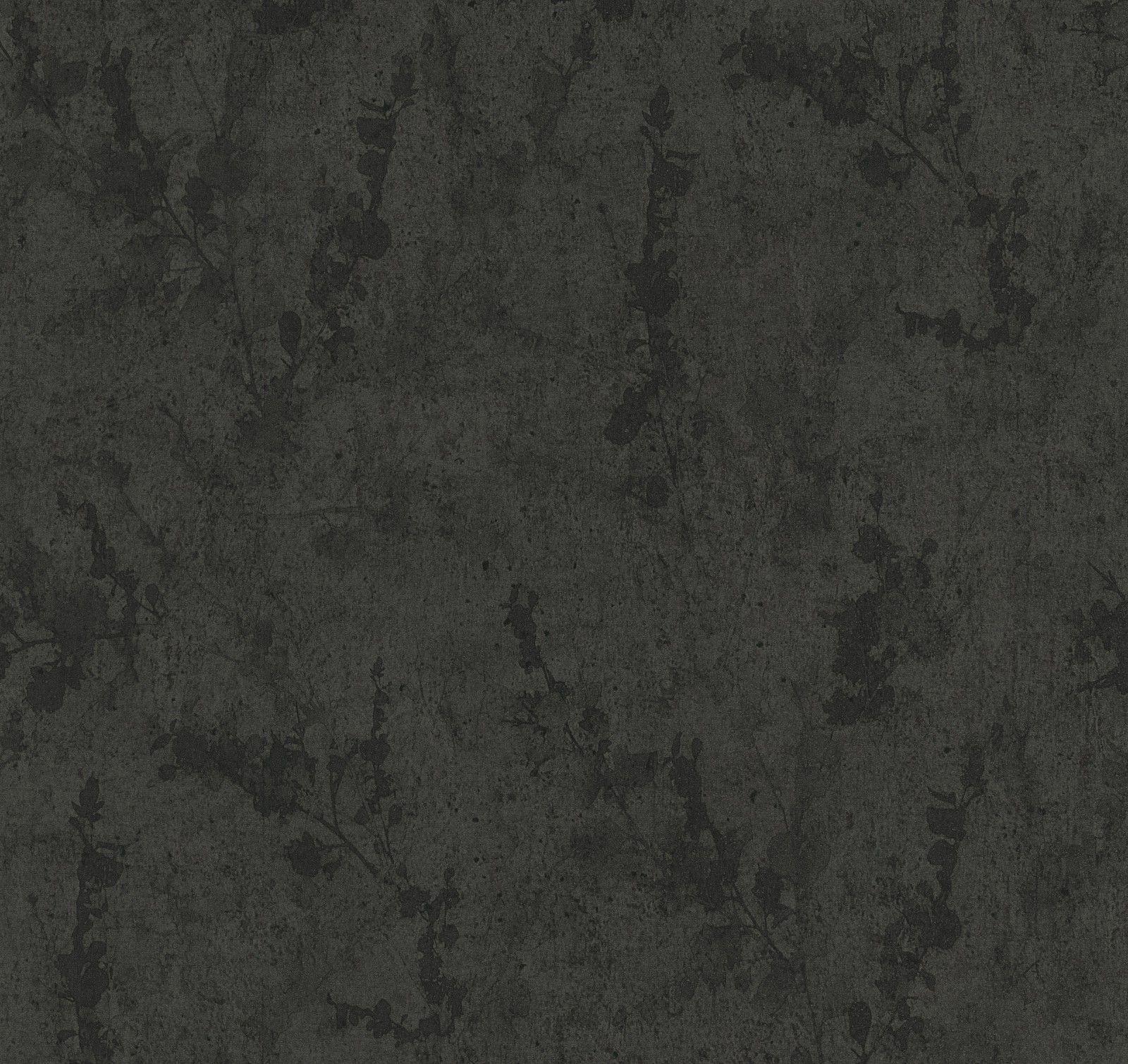 Tapete guido maria kretschmer beton schwarz 02462 30 for Schwarze tapete