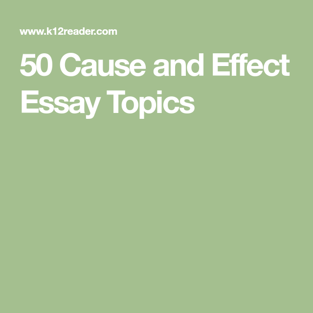 50 Cause And Effect Essay Topic Of Stres