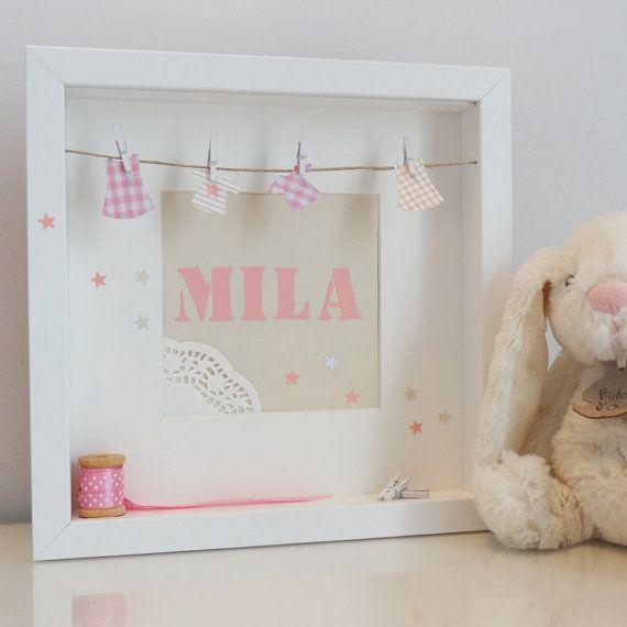 Cadre d coratif personnalisable pour chambre d 39 enfant cadeau de naissance by little belette - Cadre pour chambre enfant ...