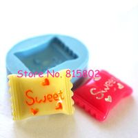 Freies Verschiffen KYL007U Süße Süßigkeiten Silikonform Decoden Kawaii Miniatur Süßigkeiten Essen Polymer Clay Schmuck Charms Cabochon Form