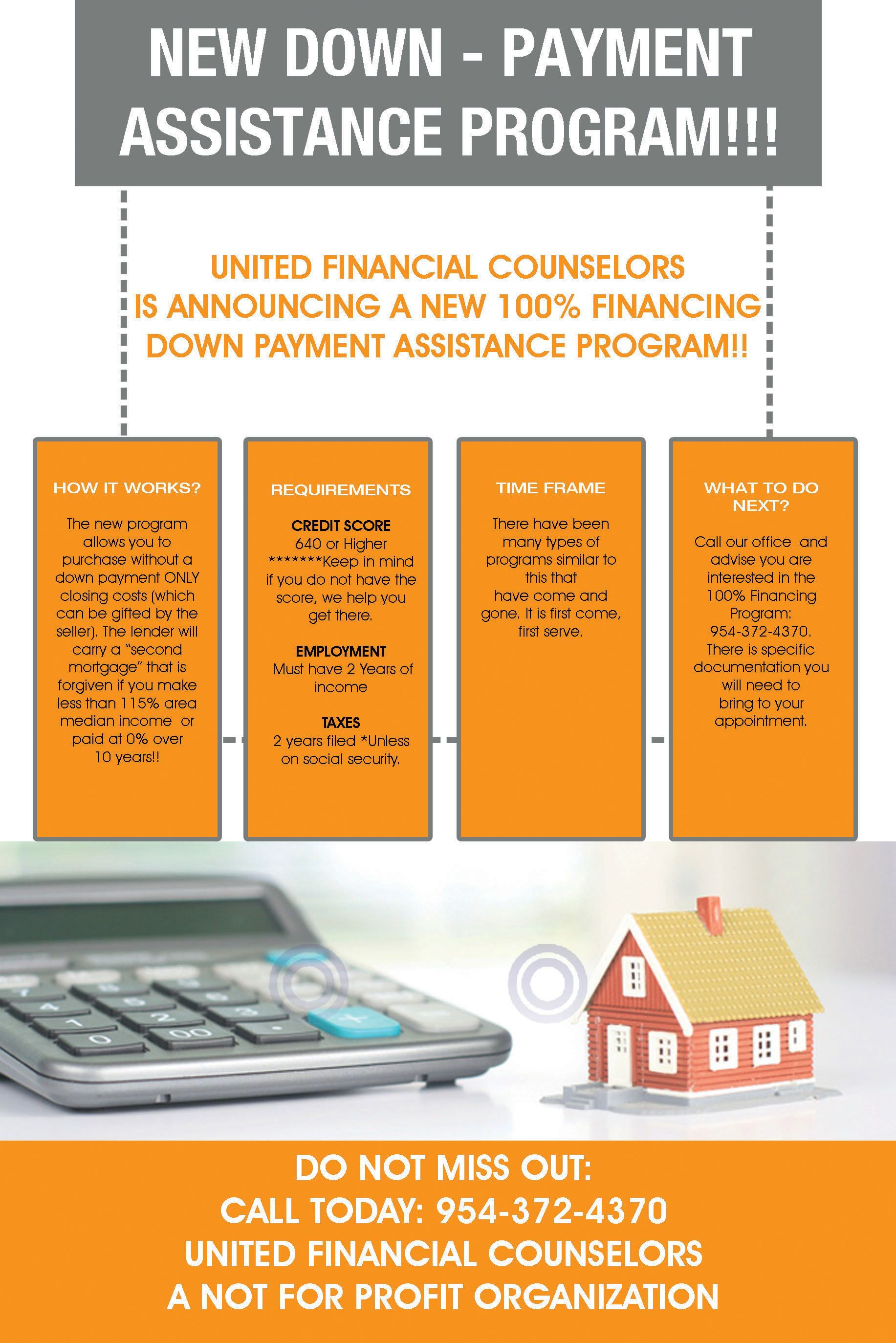 Pin By Jhonsam On United Counselors Down Payment Assistance