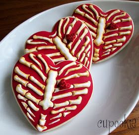 Cupookie: Heart Rib Cage Cookies