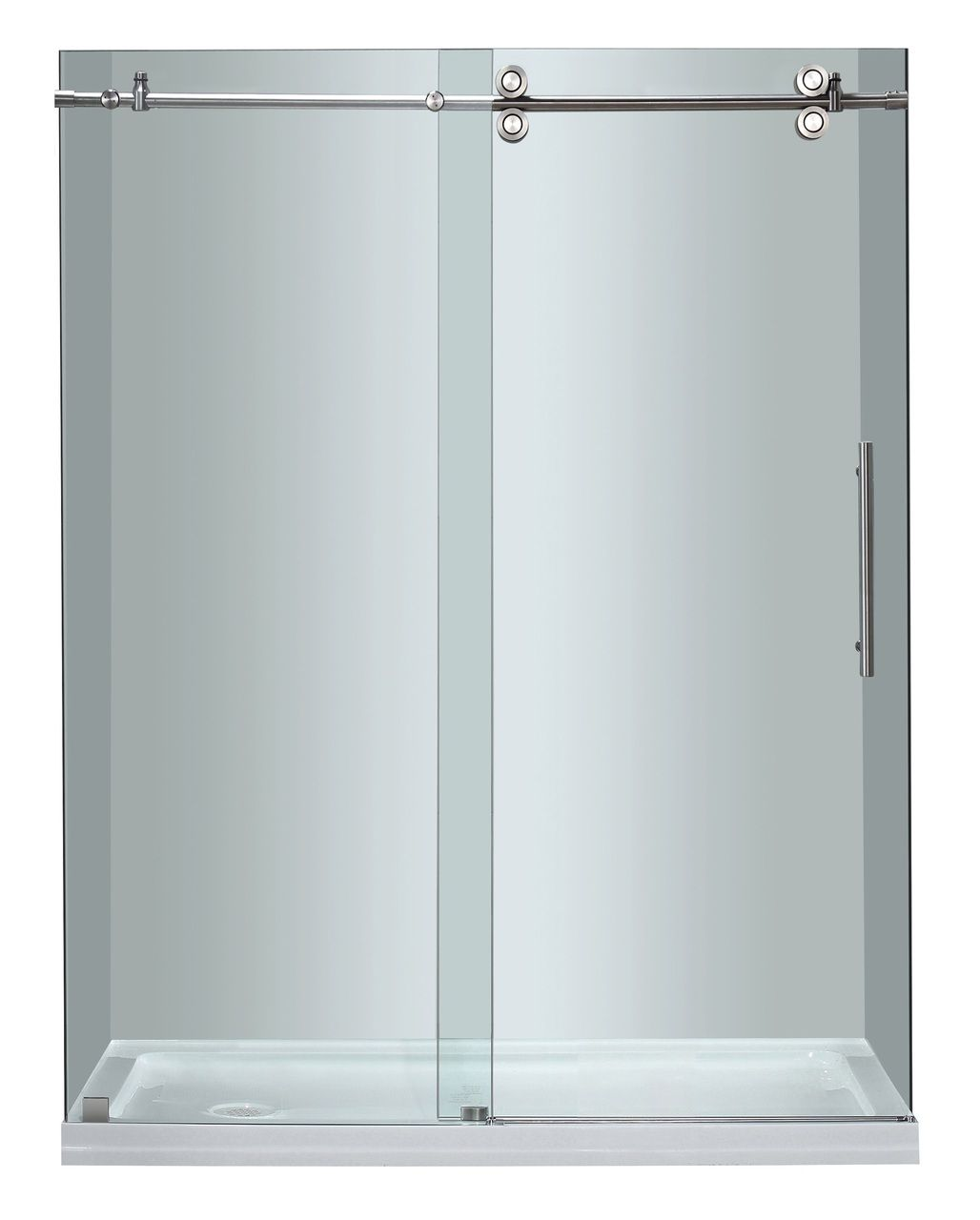 Sdr978 Langham Completely Frameless Sliding Alcove Shower Door With Images Sliding Shower Door Shower Doors Frameless Sliding Shower Doors