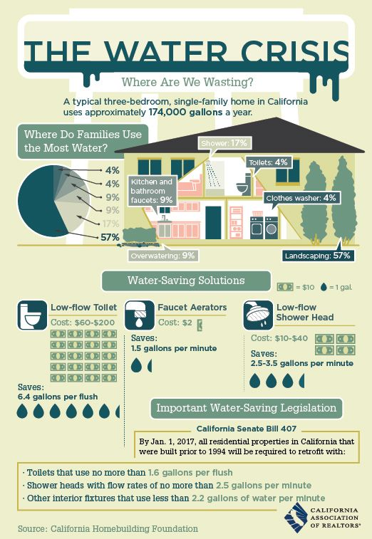Take A Closer Look Into Where We Waste Water In Our Households