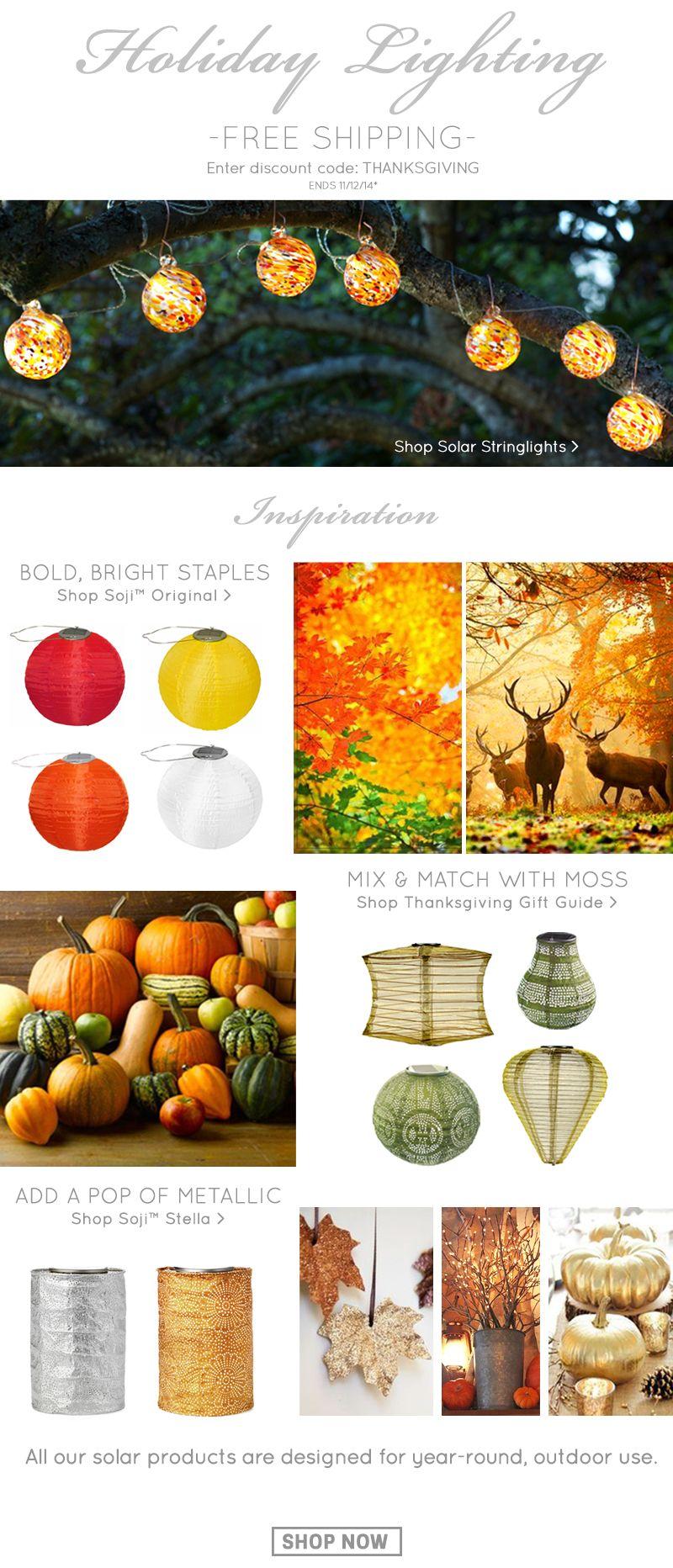 Charming Thanksgiving Gift Guide SOLAR Lanterns Www.allsopgarden.com