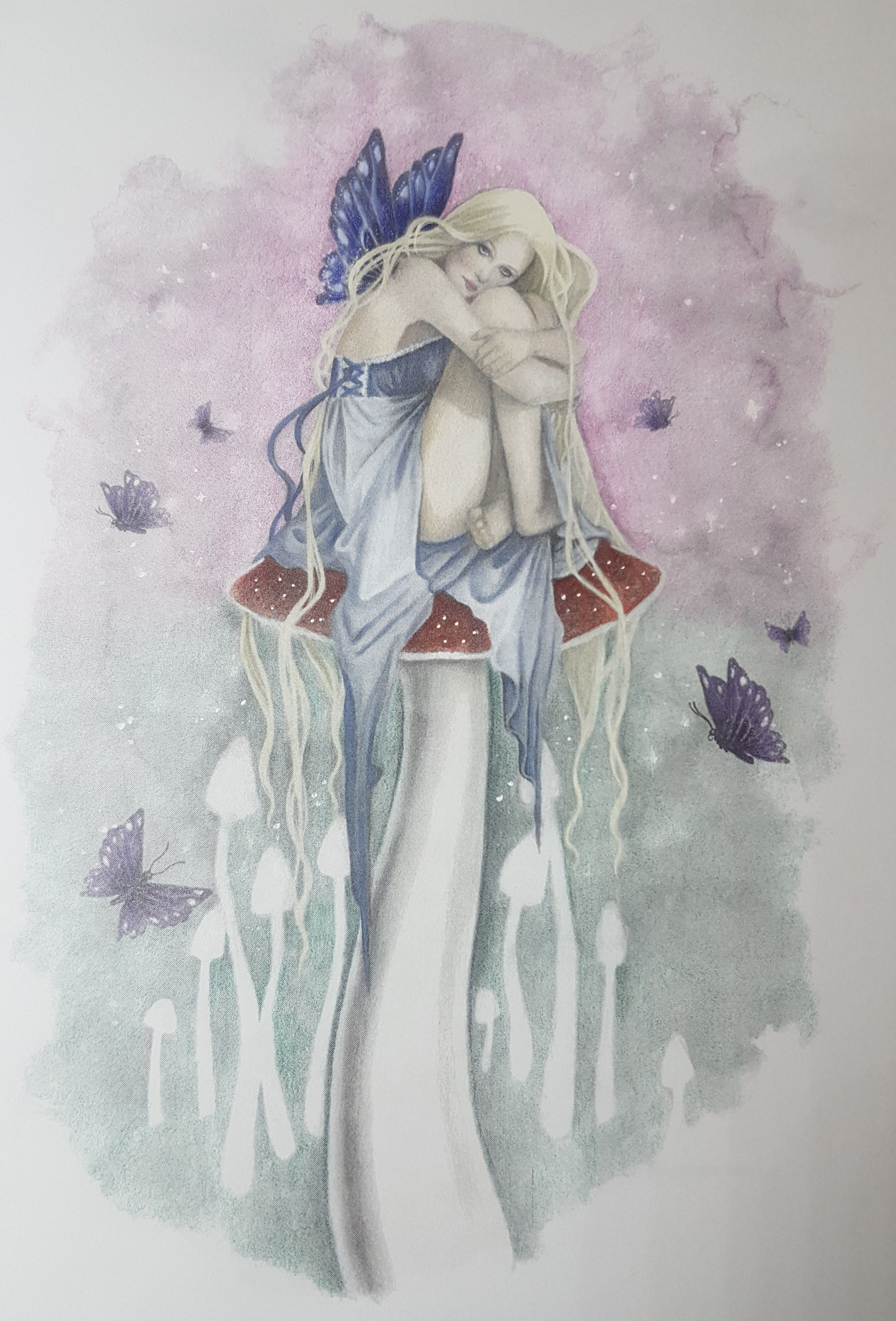 Fairy art coloring book by selina fenech - Picture Is From Selina Fenech Grayscale Fairy Art I Used Prismacolor Penciles And Love Prismacolorfairy Artbook Artcolouringfairies