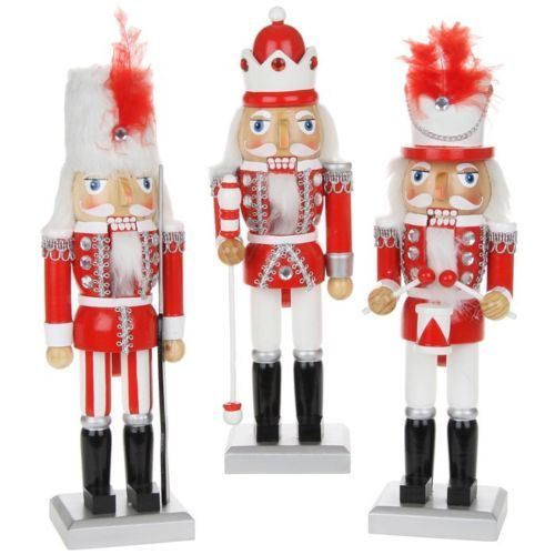 single traditional wooden christmas nutcracker soldier king drummer decoration - Christmas Soldier Decorations