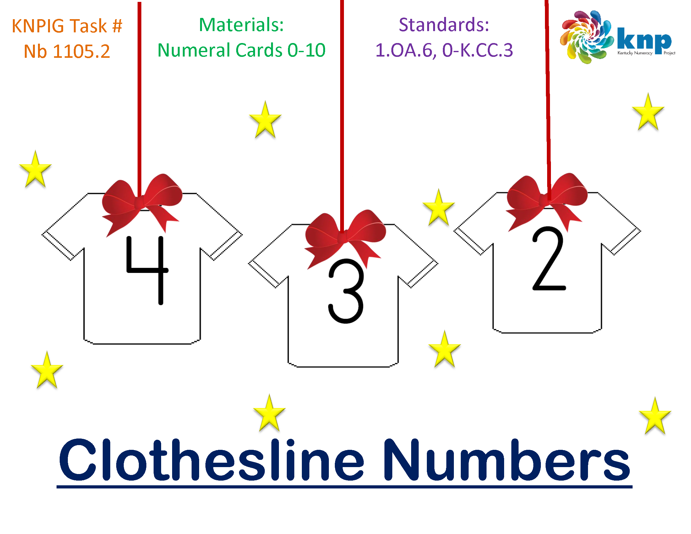 """""""Clothesline Numbers"""" Read the numbers 110 and put them"""