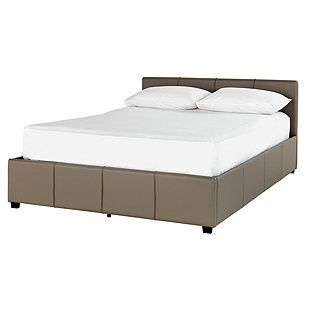 Sensational Buy Hygena Hendry Kingsize Ottoman Bed Frame Latte At Gmtry Best Dining Table And Chair Ideas Images Gmtryco