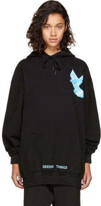 e611b3394b3 Off-White Black Oversized Not Real Dove Hoodie #fashion #outfit ...