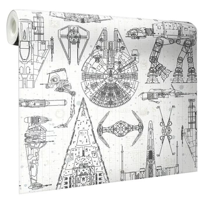 Star Wars Spaceship Blueprints Peel And Stick Wallpaper Roommates In 2020 Star Wars Spaceships Star Wars Bathroom Star Wars Bedroom