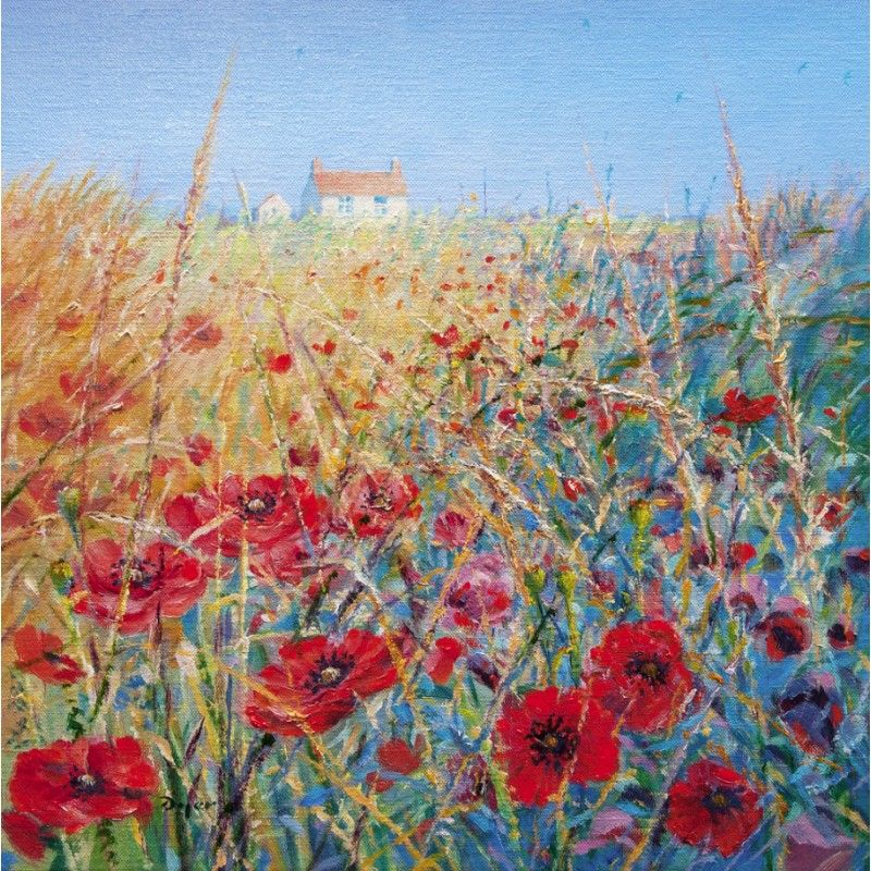 The Poppy Field. Limited Edition Print By Ted Dyer