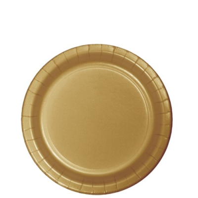 Glittering Gold Party 6 75 Inch Paper Cake Dessert Plates 24 Ct Plates Gold Party Gold Paper